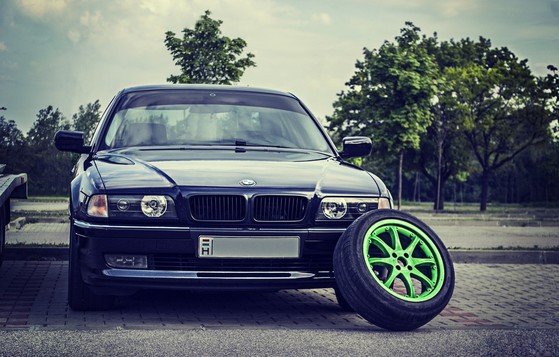Photo wallpaper BMW, Boomer, Classic, Lights, E38, Bimmer