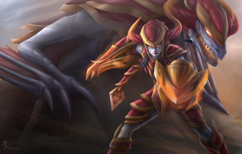 Photo wallpaper Dragon, Shyvana, League of Legend, Arm