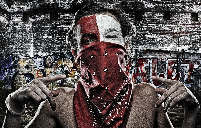 Photo wallpaper background, mask, guy