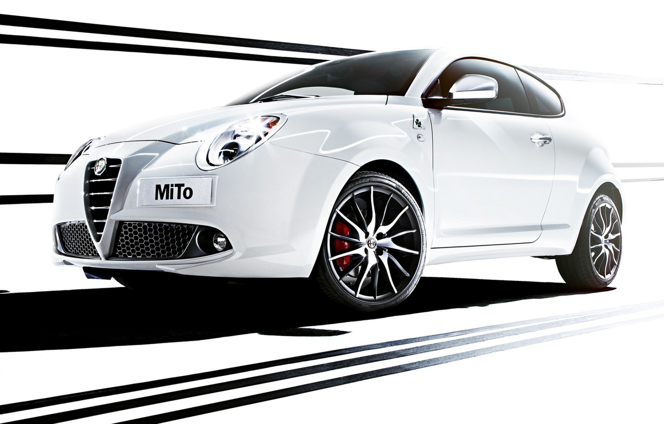 Photo wallpaper Alfa Romeo, MiTo, the front, Verde, Four-leaf clover, Alfa Romeo, Mi Tu