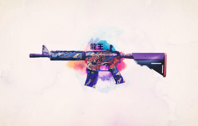 Photo wallpaper weapons, background, Weapons, Gun, rifle, assault, Steam, Skin, Weapon, counter strike global offensive, cs go, …