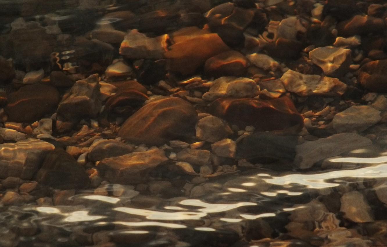 Photo wallpaper wave, water, stone