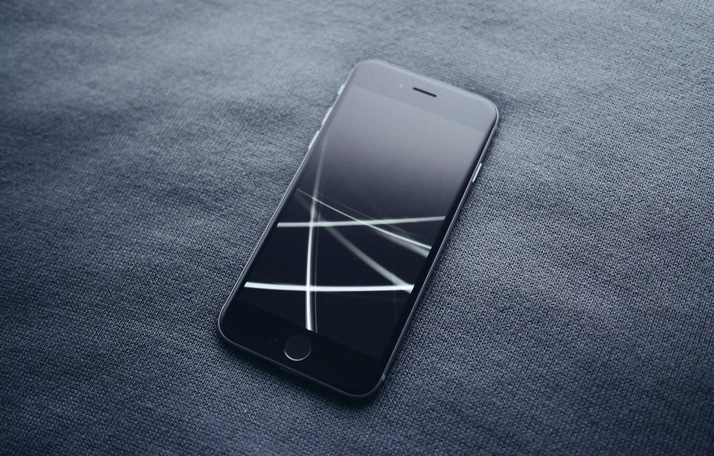 Photo wallpaper style, black, smartphone, Apple, iphone 6