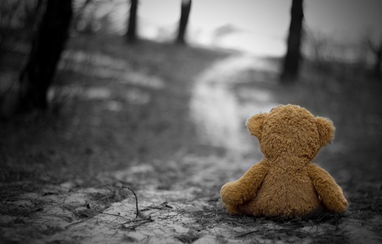 Photo wallpaper cold, sadness, autumn, loneliness, sadness, Toy, nostalgia