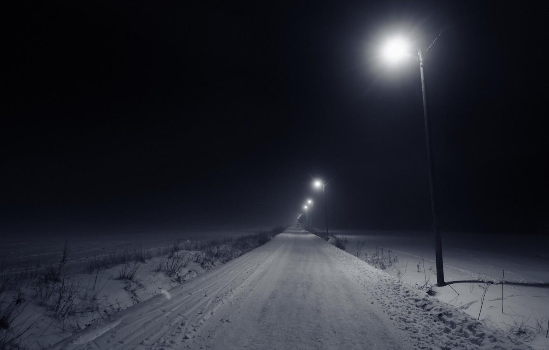 Photo wallpaper light, night, the city