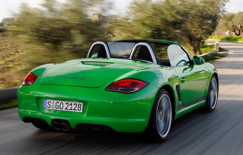 Photo wallpaper machine, speed, Porsche, back, Boxster S