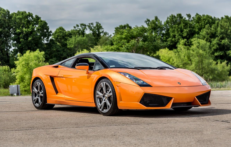 Photo wallpaper Lamborghini, Gallardo, orange