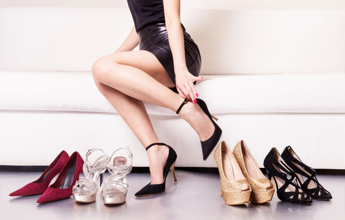 Photo wallpaper models, shoes, heels, purchase