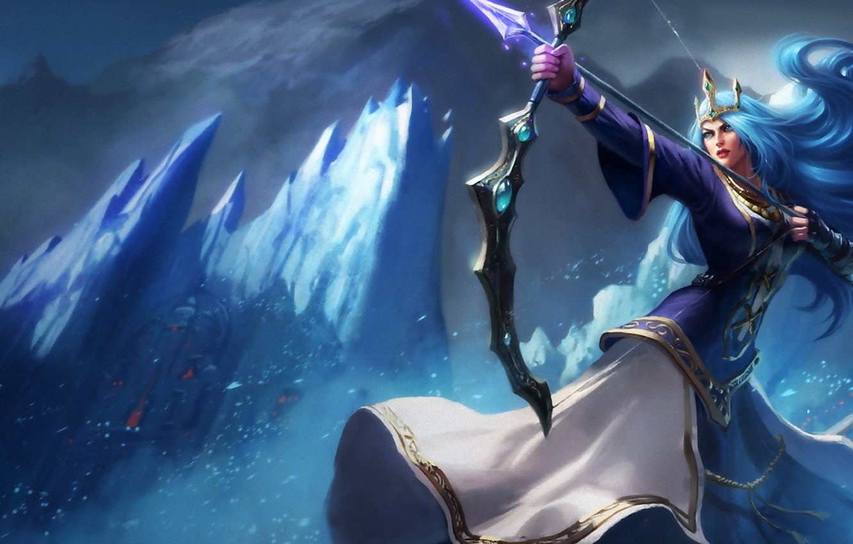 Wallpaper League Of Legends Ashe Lol League Of Legends Adk