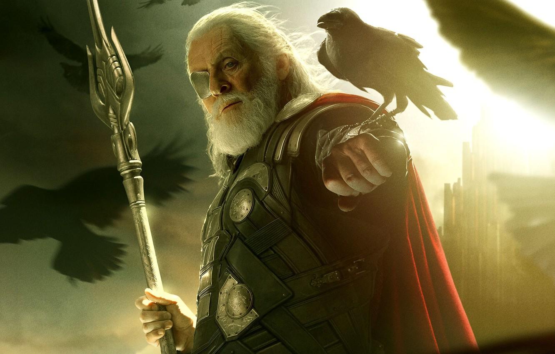 Wallpaper Raven Hero One God Anthony Hopkins Thor The Dark