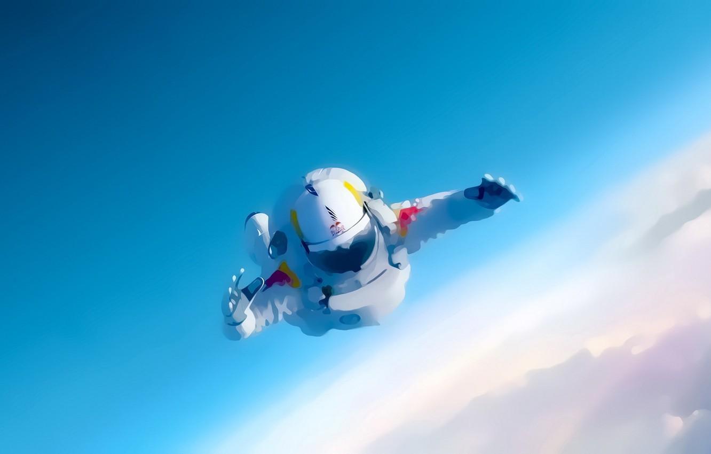 Photo wallpaper figure, drop, astronaut, astronauts