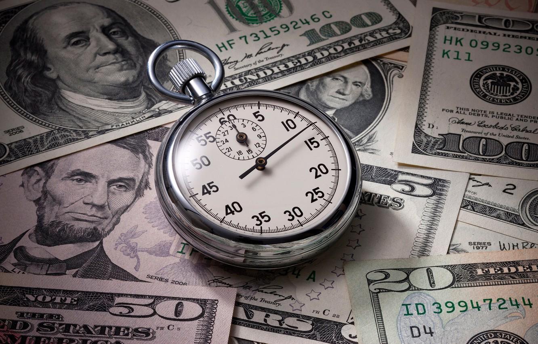 Photo wallpaper money, dollars, watch