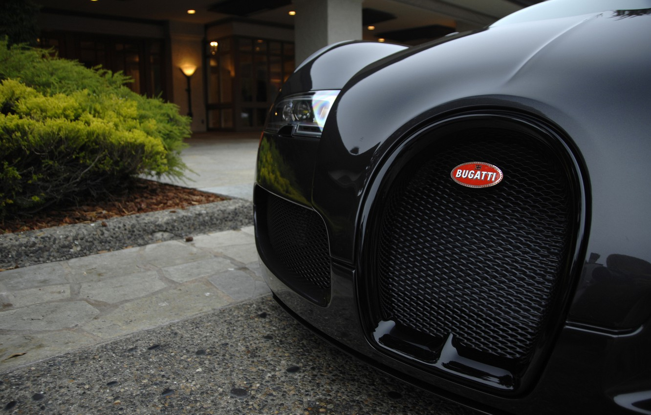 Photo wallpaper black, Bugatti, Veyron, exotic, hypercar