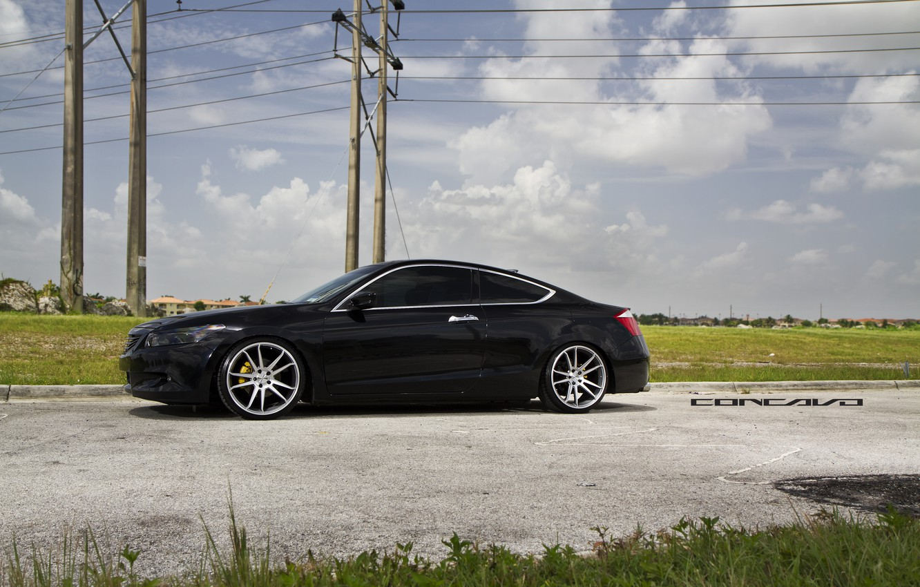 Photo wallpaper the sky, clouds, Honda, Accord, Coupe, Wheels, Concave, CW-S5