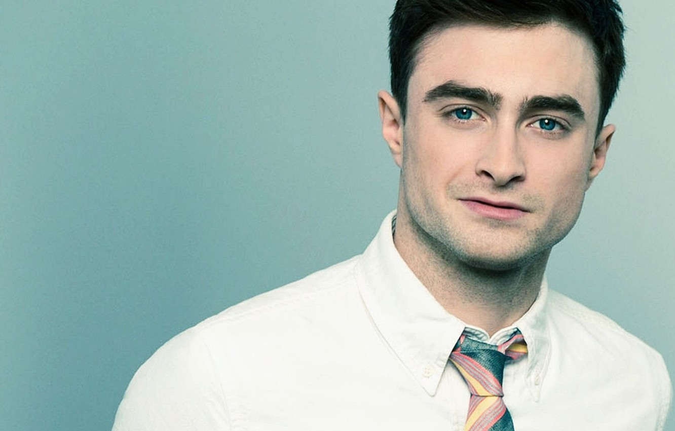Photo wallpaper tie, actor, male, celebrity, bristles, Daniel Radcliffe