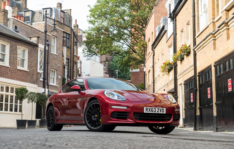 Photo wallpaper street, home, Porsche, Panamera, street, E-Hybrid