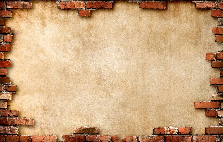 Photo wallpaper background, wall, brick, brown