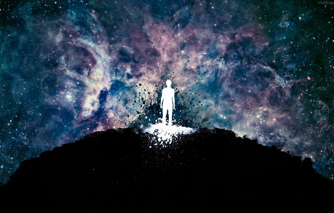 Photo wallpaper color, space, paint, people, Earth, abstract