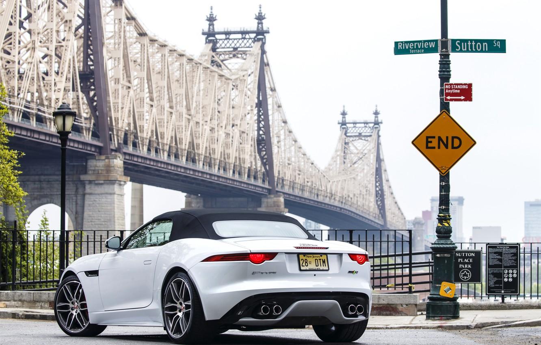Photo wallpaper Jaguar, Jaguar, US-spec, AWD, 2015, F-Type R