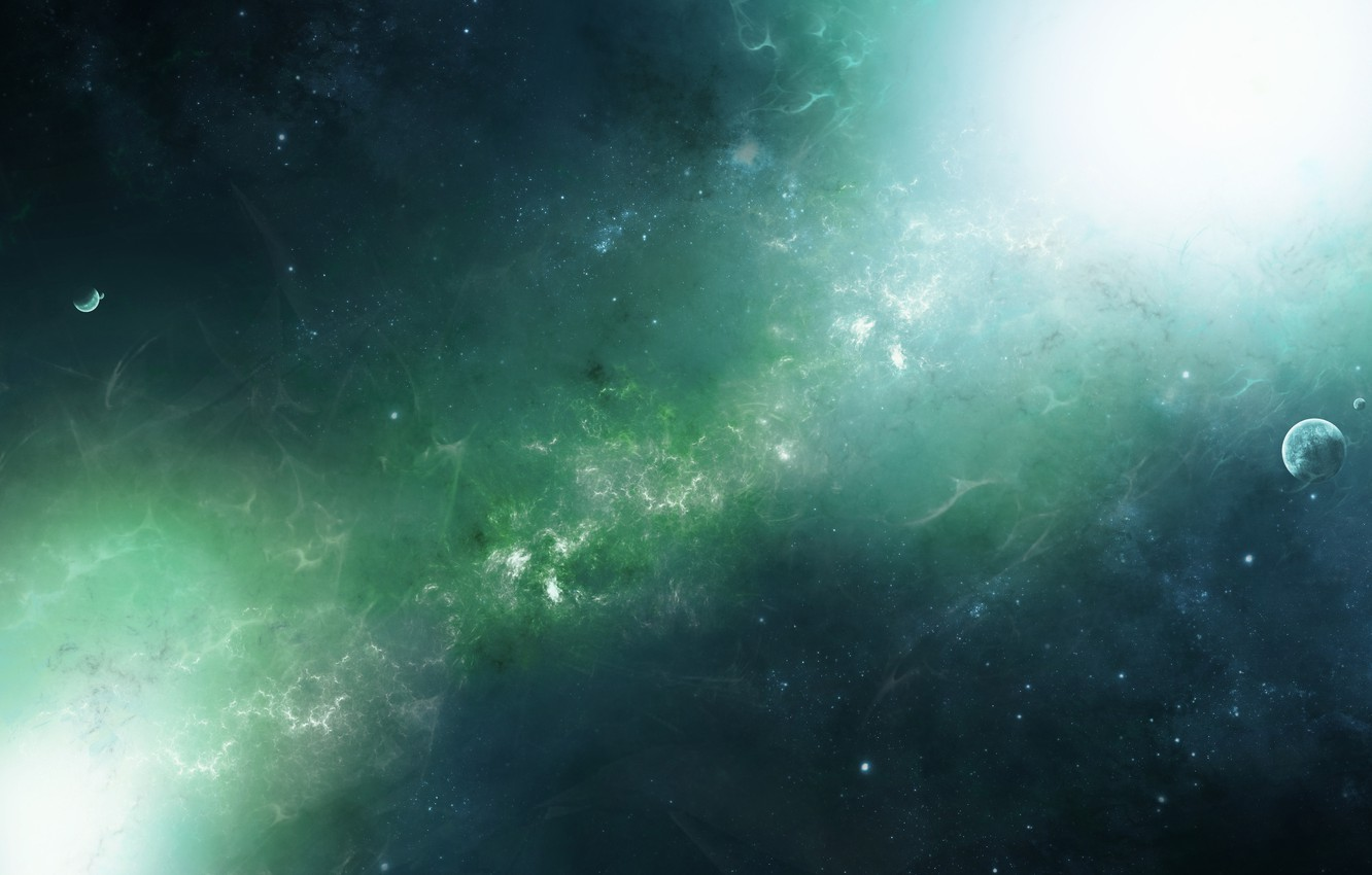 Photo wallpaper stars, light, planet, Space, space, stars, nebula, planets