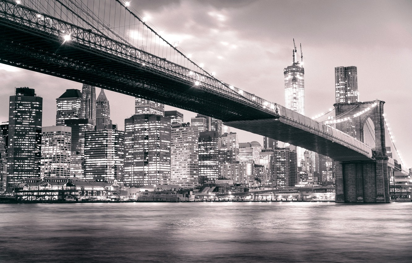 manhattan black and white wallpaper