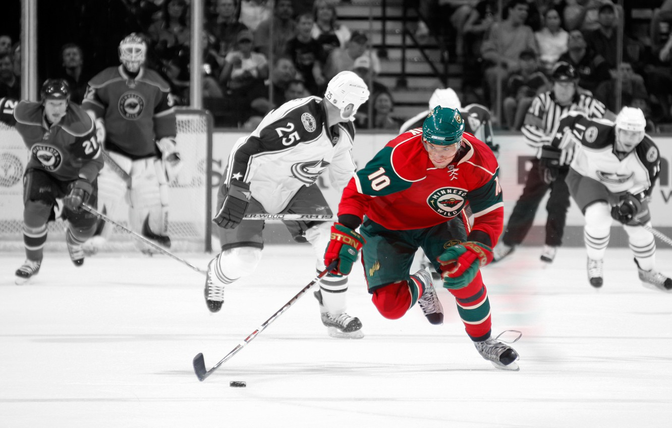 Wallpaper The Game Washer Nhl Players Stick Minnesota Wild Nhl Ice Hockey Images For Desktop Section Sport Download