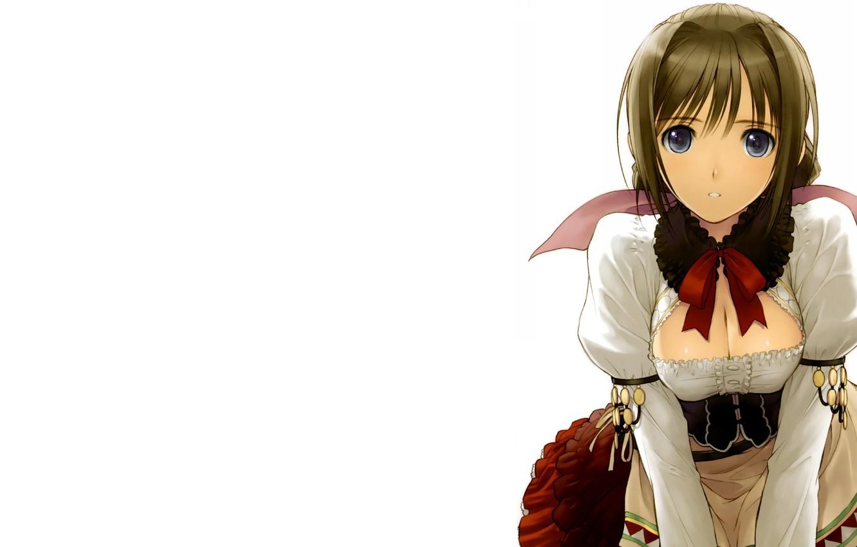 Photo wallpaper girl, Tony Taka, white background