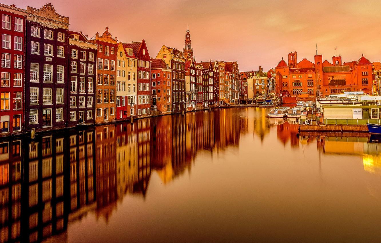 gollandiia niderlandy amsterdam kanal
