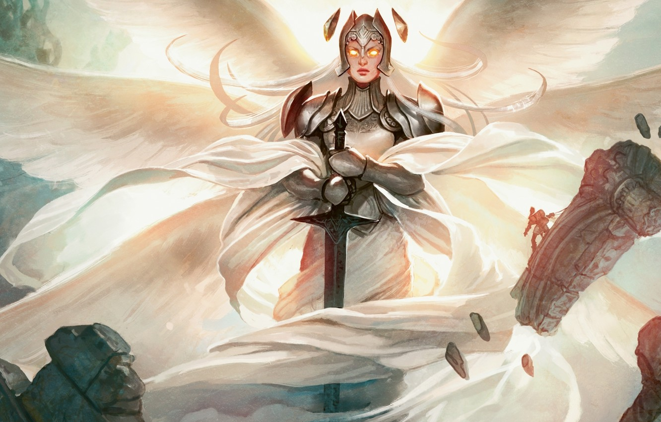 Photo wallpaper Angel, Magic The Gathering, MTG