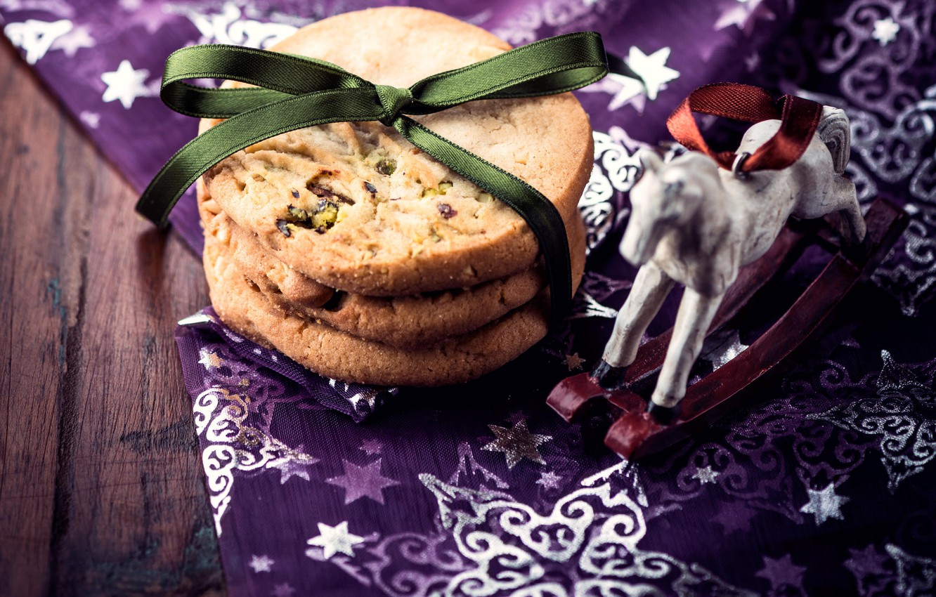 Photo wallpaper holiday, New Year, cookies, Christmas, Christmas, New Year