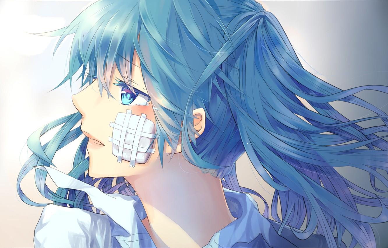 Photo wallpaper girl, anime, art, vocaloid, hatsune miku, upscale, hinata-t6, rolling girl