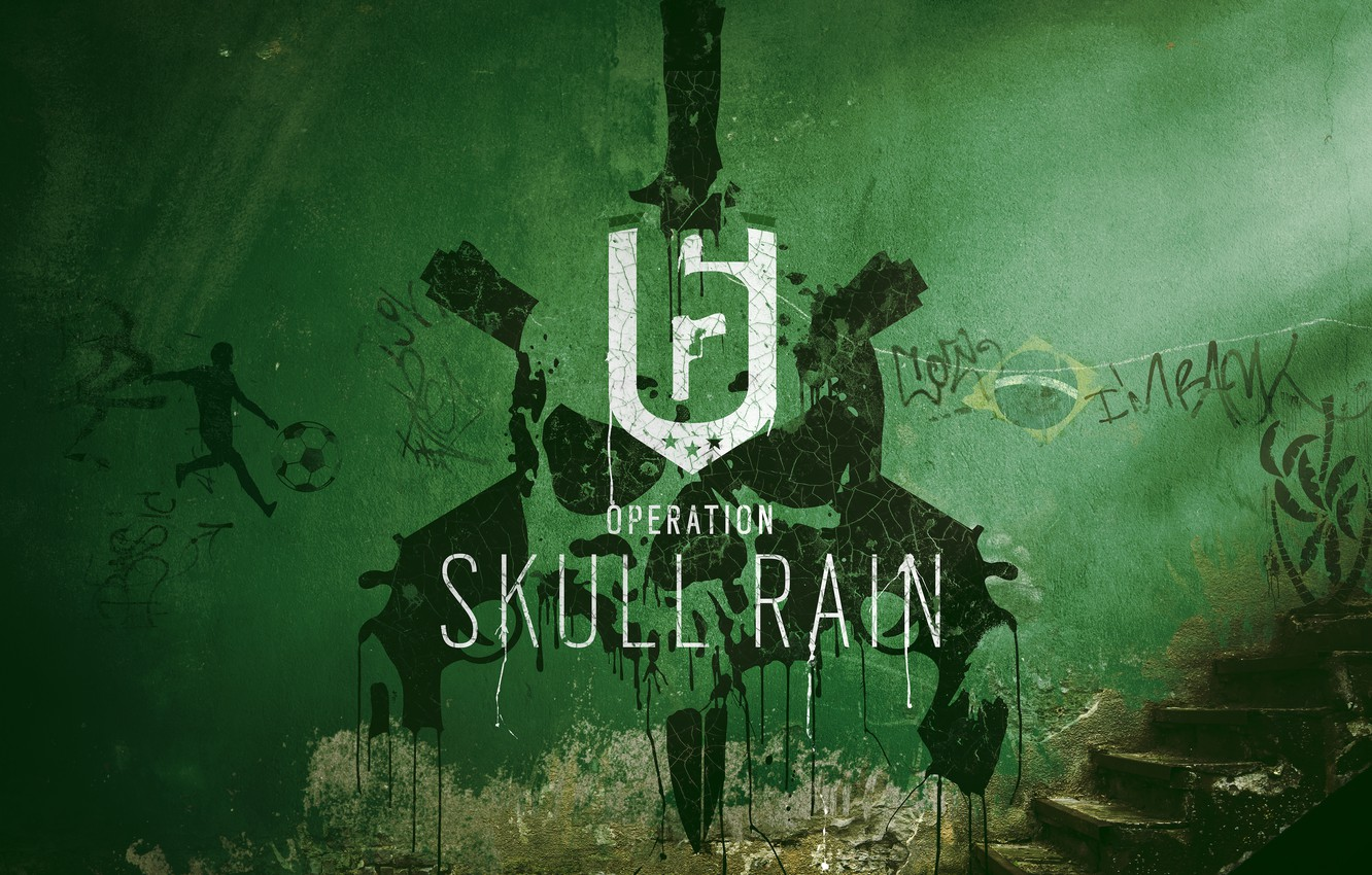 Photo wallpaper Ubisoft, Game, Tom Clancy's Rainbow Six: Siege, Skull Rain