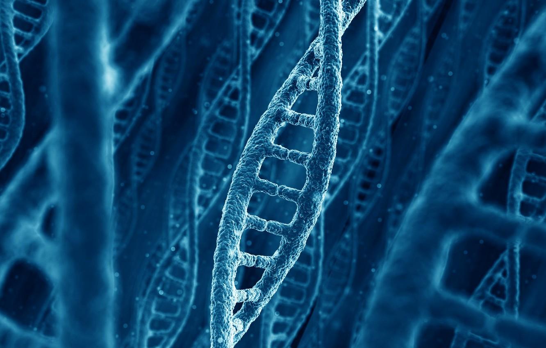 Photo wallpaper nature, DNA, chain, molecule