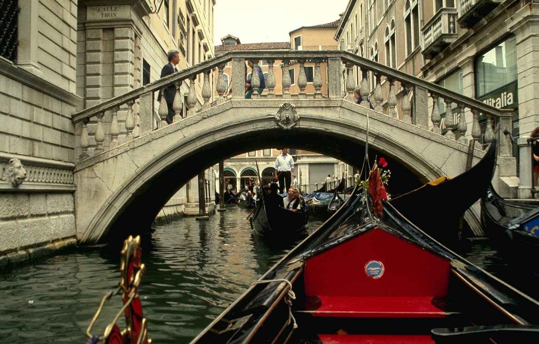 Photo wallpaper bridge, Italy, Venice, the gondola