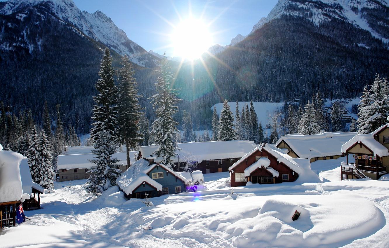 Photo wallpaper USA, winter, Washington, Holden Village