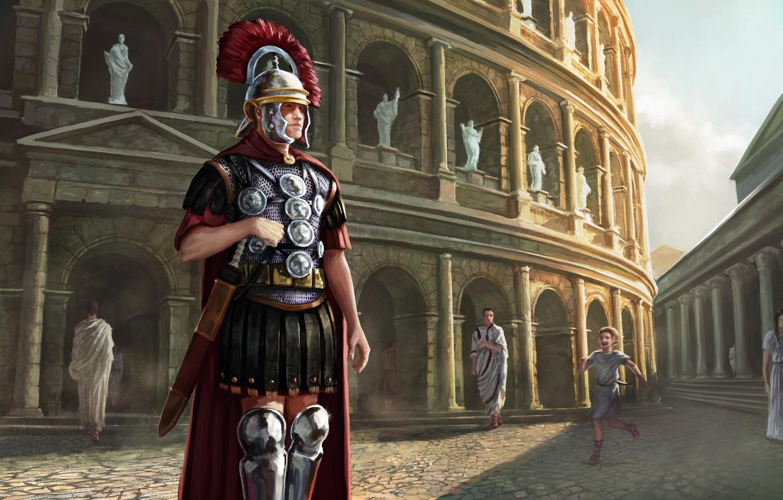 Wallpaper Figure Colosseum Centurion Ancient Rome The