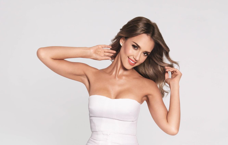 Photo wallpaper look, girl, face, smile, model, star, beauty, actress, beauty, jessica alba, latina, latina