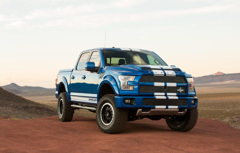 Photo wallpaper desert, Ford, Shelby, F-150, 2016