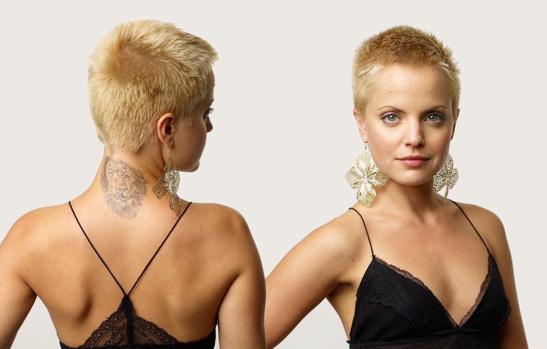 Wallpaper Mena Suvari Dress Smile Short Hair Pretty Tattoo Blonde Actress Black Dress Crop Earrings Cropped Hair Mena Lbd Suvari Images For Desktop Section Devushki Download