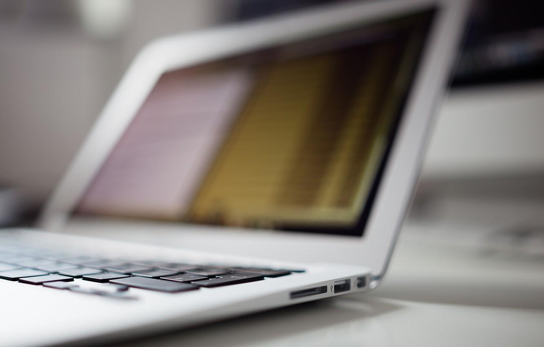 Photo wallpaper keys, keyboard, laptop