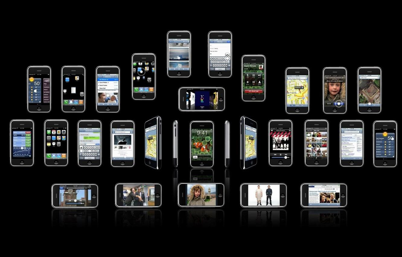 Photo wallpaper iphone, brand, phones, iPhones, telefonchiki, cell phones, cellphones