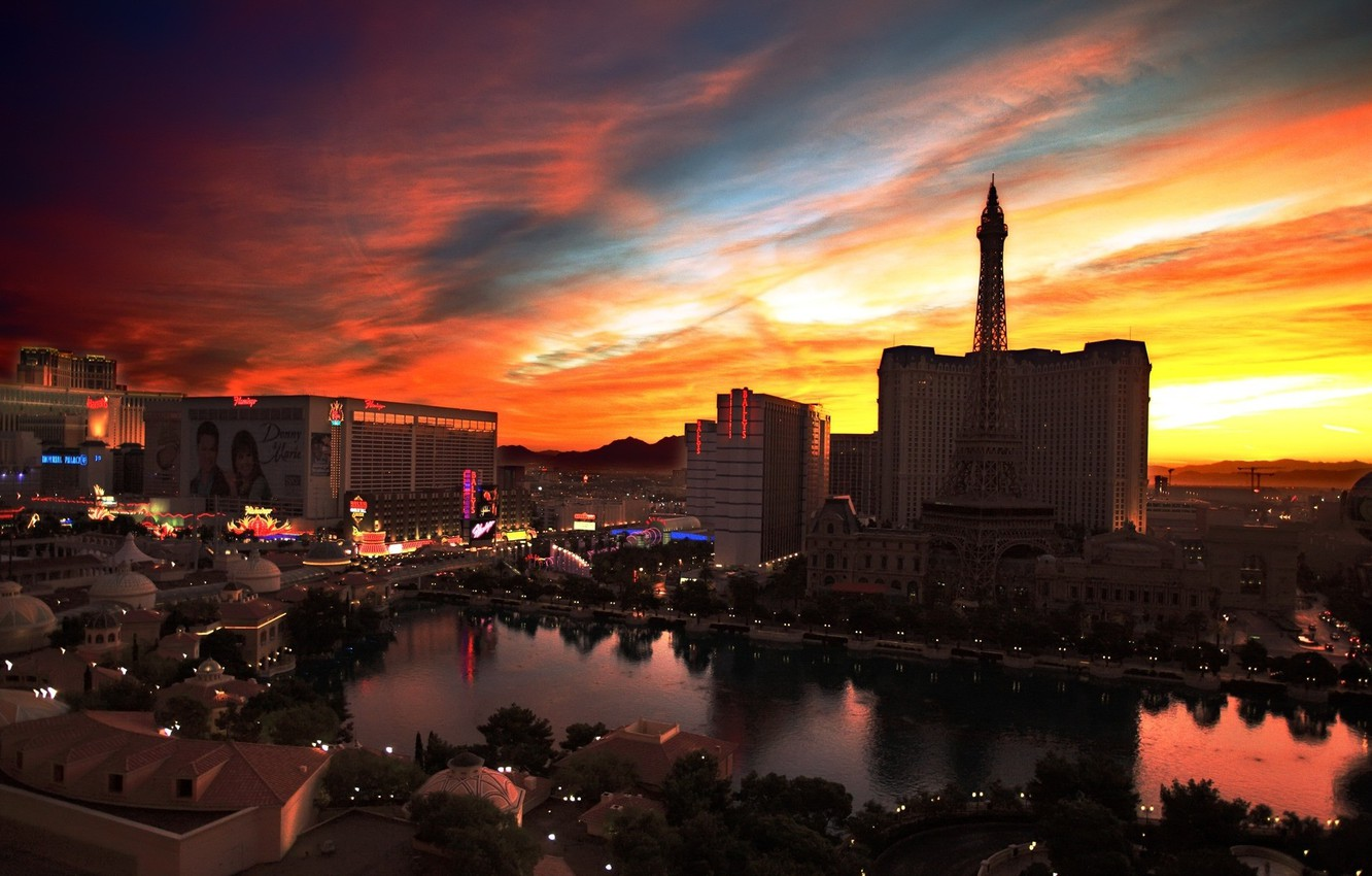 Photo wallpaper Dawn, Las Vegas, Casino