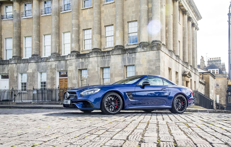 Photo wallpaper Mercedes-Benz, Blue, Car, AMG, 2016, Metallic
