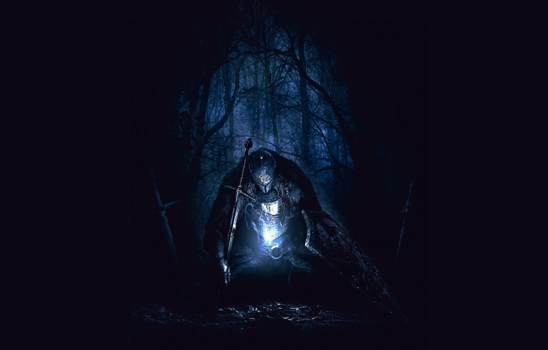 Wallpaper Forest Darkness Despair Armor Shield Knight Dark