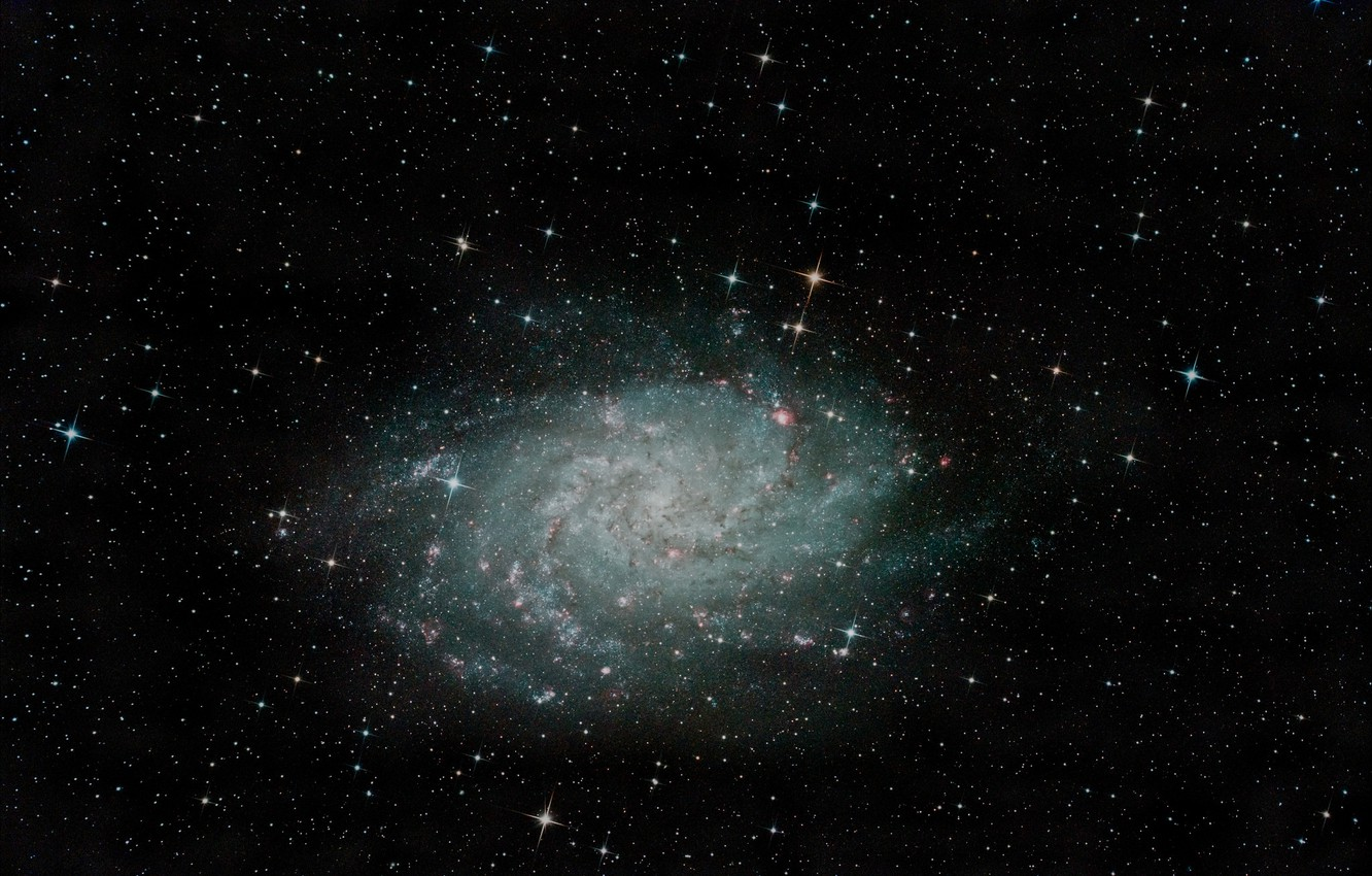 Photo wallpaper spiral galaxy, M 33, in the constellation, Triangle, NGC 598
