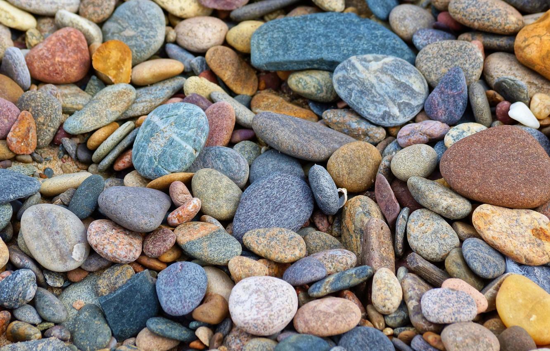 Photo wallpaper colorful, stones, pebble