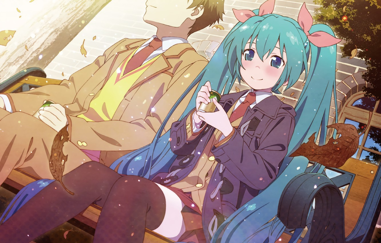 Photo wallpaper girl, anime, art, pair, guy, Vocaloid