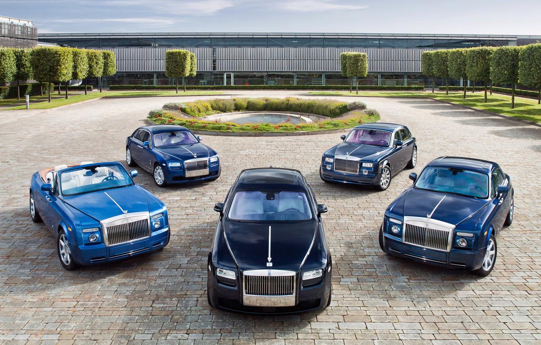 Photo wallpaper pond, Rolls-Royce, Phantom, exhibition, five