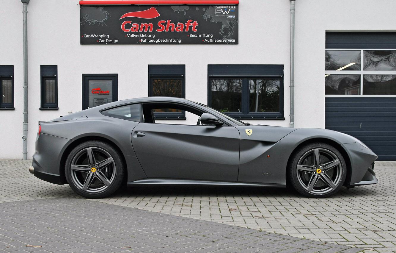 Photo wallpaper Ferrari, silver, side view, cam shaft, the ferrari f12 berlinetta