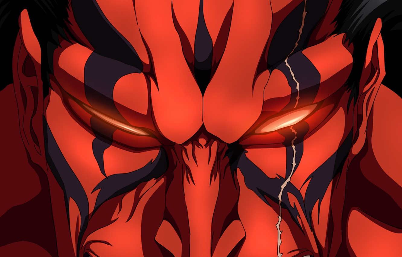 Photo wallpaper demon, battlefield, sword, game, Bleach, war, anime, katana, fight, ken, bankai, captain, asian, God, manga, …